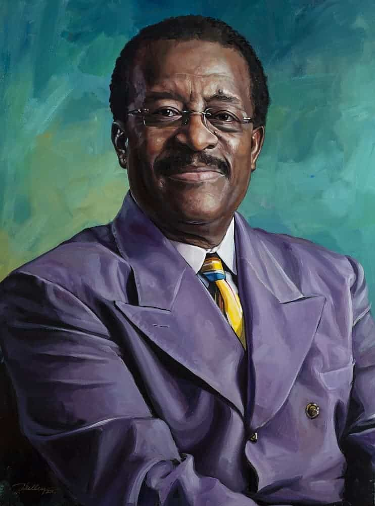 img- Painting of Johnnie Cochran The Cochran Firm
