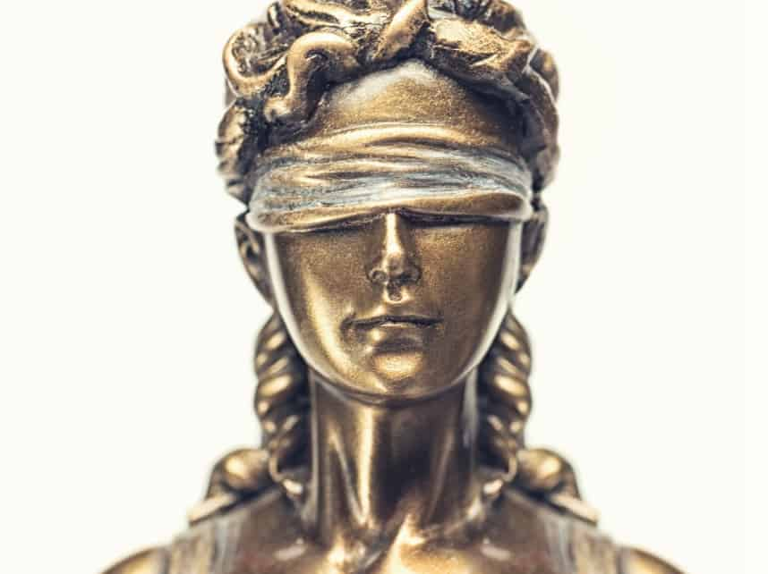 Face of the Lady Justice Statue