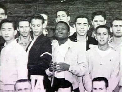 Johnnie Cochran with his fellow middle school classmates at Mount Vernon Middle School